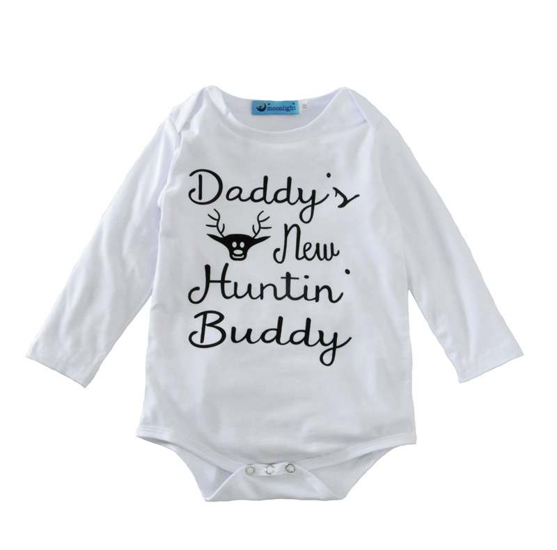 Full Cotton Daddy's New Hunting Buddy 3 Pieces Children Antlers Outfit
