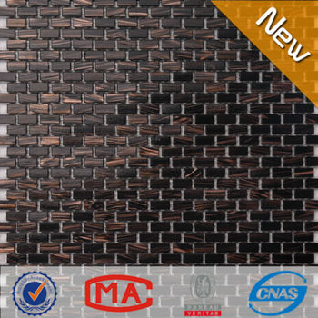 Ljo Jy G 69 Rectangular Foshan Dark Brown Glass Mosaic Tile Non Slip