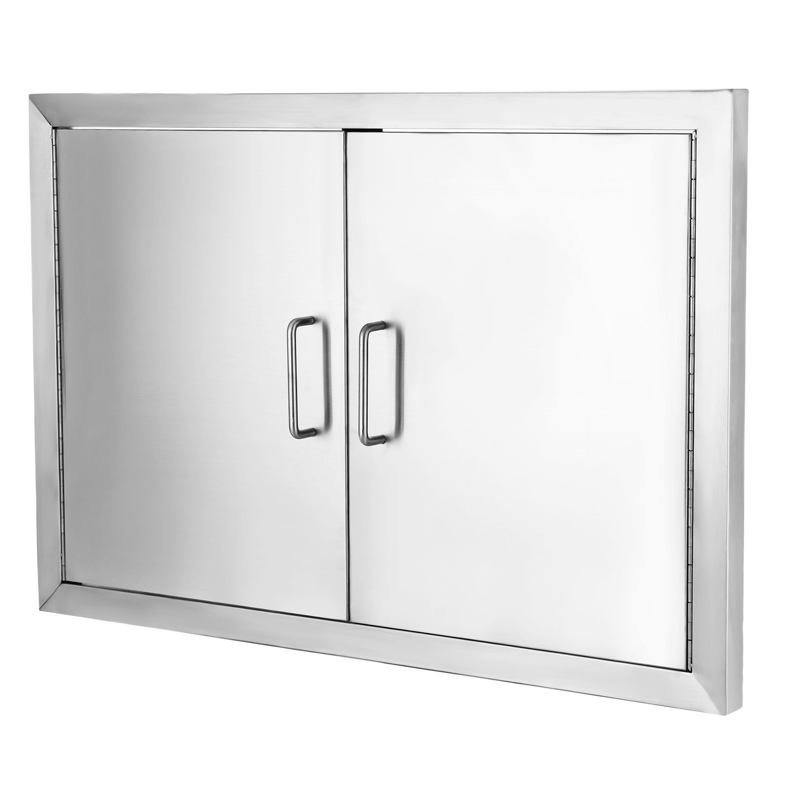 Happybuy BBQ Access Door Double Wall Construction Cutout 28W x 19H in. BBQ Island/Outdoor Kitchen Access Doors 304 Grade Brushed Stainless Steel Heavy Duty