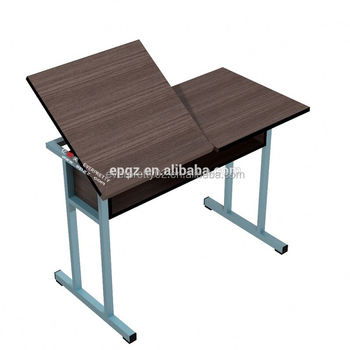 Modern Style Portable Fold Up Study Table For College Drawing Clroom Furniture