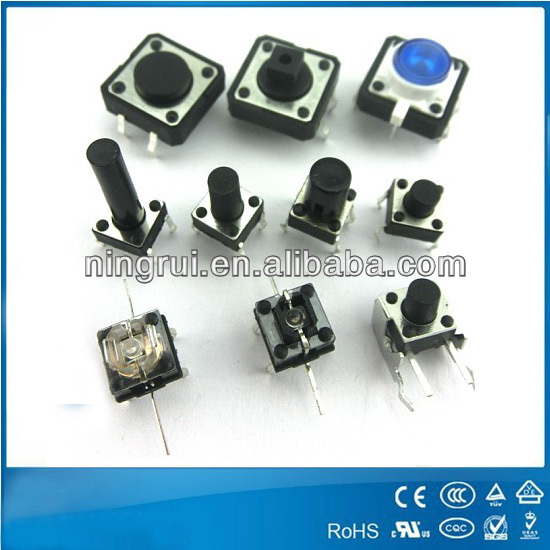 Manufactory Supply full kinds of function push button micro tact switch With Competitive Price