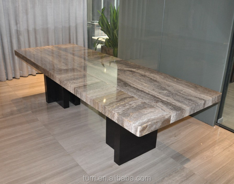 Modern Marble Dining Room Table Wood Base Dining Table - Buy ...