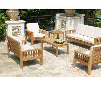 14a75a3587 Momoda SN300 solid teak wood Garden Sofa set luxury modern UV Protection  Water Proof Colorfast outdoor