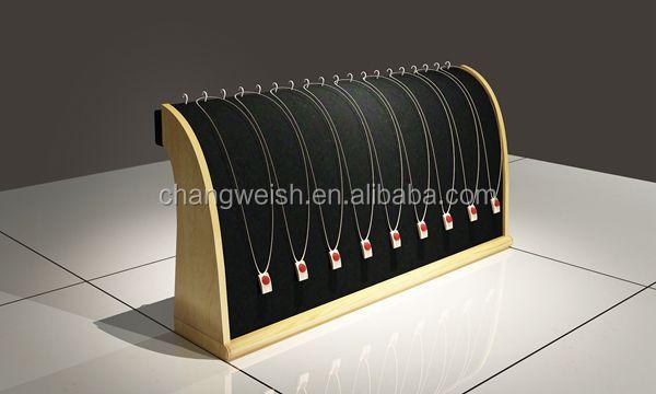 Modern Jewelry Vitrine Wood Necklace Display Stand