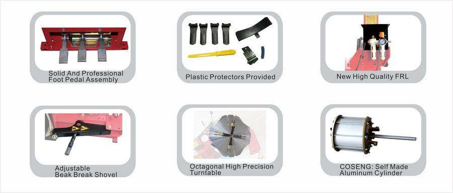 AUSLAND TCS-301 Lastik Tamir Ekipmanları Twins Sıkma Silindirleri Tasarım Lastik Değiştirici Makine Fiyatı