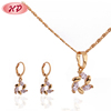 2016 fashion new style African 18K gold plated customers wedding rhinestone jewelry sets