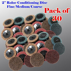 "30 Mix 2"" Roloc Surface Conditioning Sanding Disc Fine Medium Coarse Prep Pads"