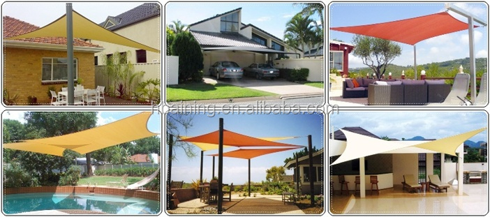 Outdoor Shade Sail Cloth Triangle Sun