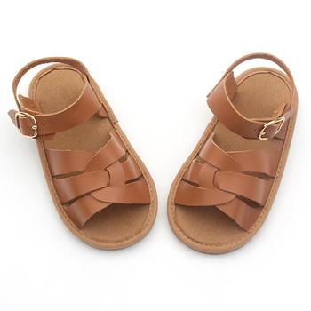 6696bdf3b894c wholesale toddler shoes boy sandals leather hard sole flat design kids  sandals