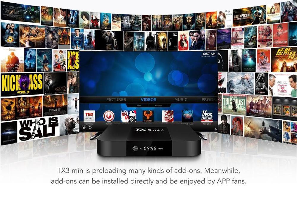 S905W Android 7.1 tv box TX3 mini