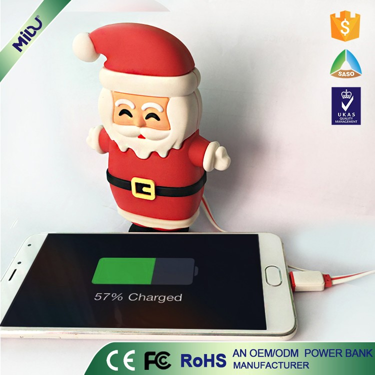 Factory Price Within 12months FCC custom logo Santa Claus PVC Material xmas gift ideas