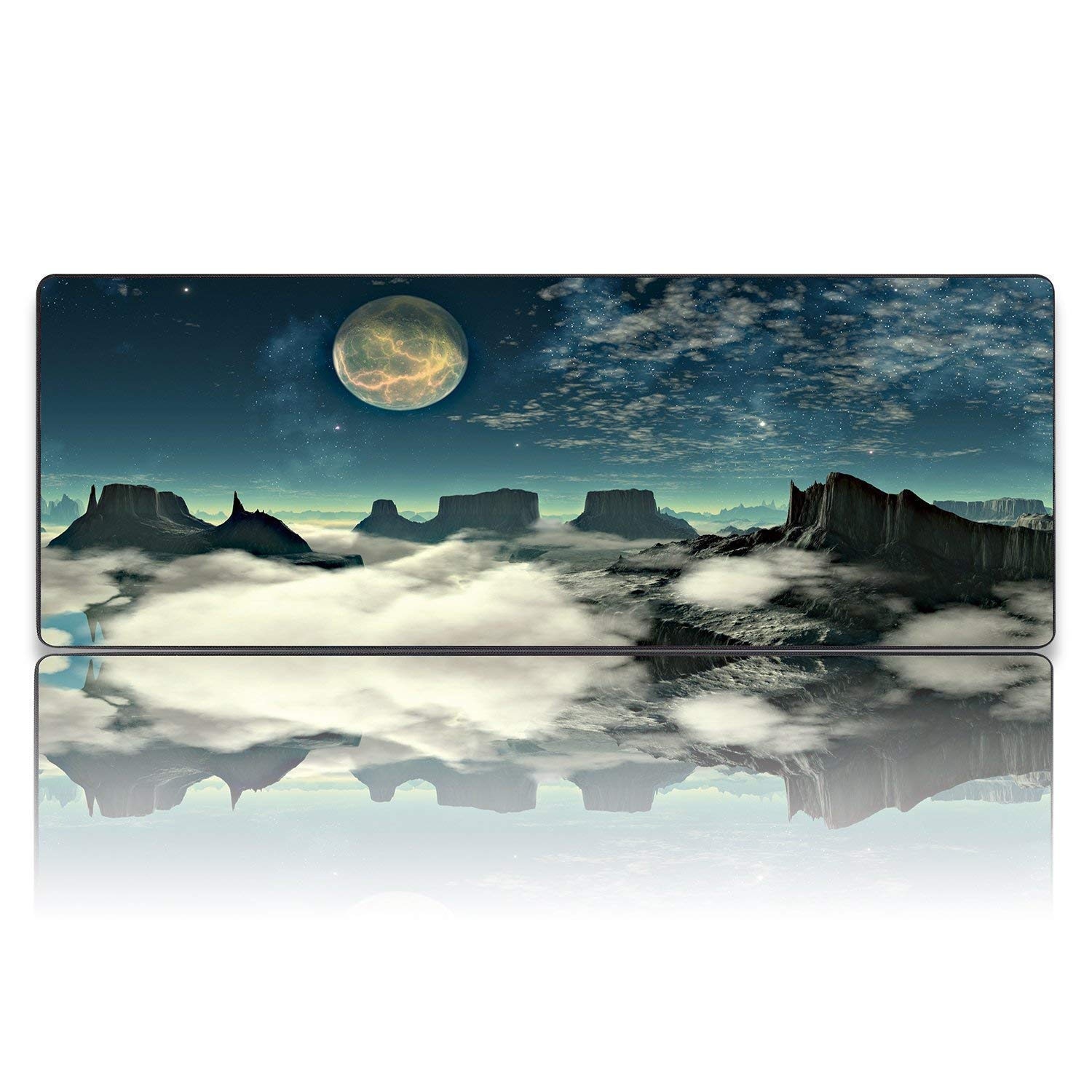 51c1d136442 Get Quotations · AODA Gaming Mouse Pad, Anti-Fray Cloth Mouse Pad Computer  Keyboard Extended Mousepad Mouse