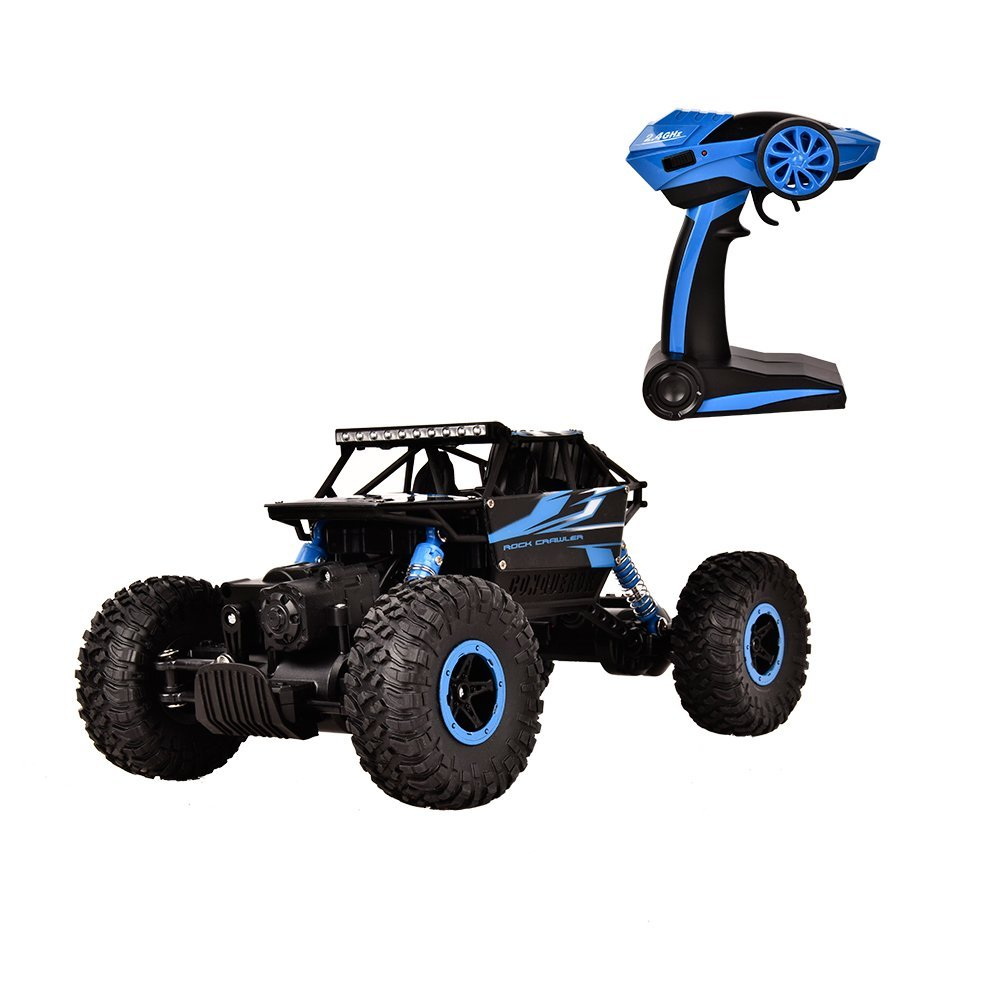 TTLIFE RC Car 2.4G 4CH 4WD Rock Crawlers 4x4 Driving Car 1:18 Double Motors Drive Bigfoot Car Remote Control Car Model Off-Road Vehicle Toy (Blue)