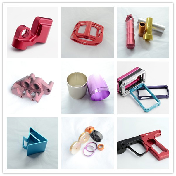 Red anodizing 6061-T6 customized cnc machining aluminum parts CNC milling service in shenzhen