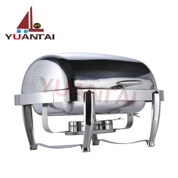High quality stainless steel buffet server stainless steel chafing dish sheep feet full clamshell buffet with buffet soup pot