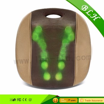 2017 Electric heated kneading 3D shiatsu full back massage cushion waist relax car seat massager for health care office car use