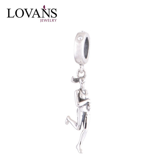 New Lady Sport 925 Sterling Silver Jewelry Silver Charm Pendants For Women Charm Bracelet Jewelry Wholesale YZ475