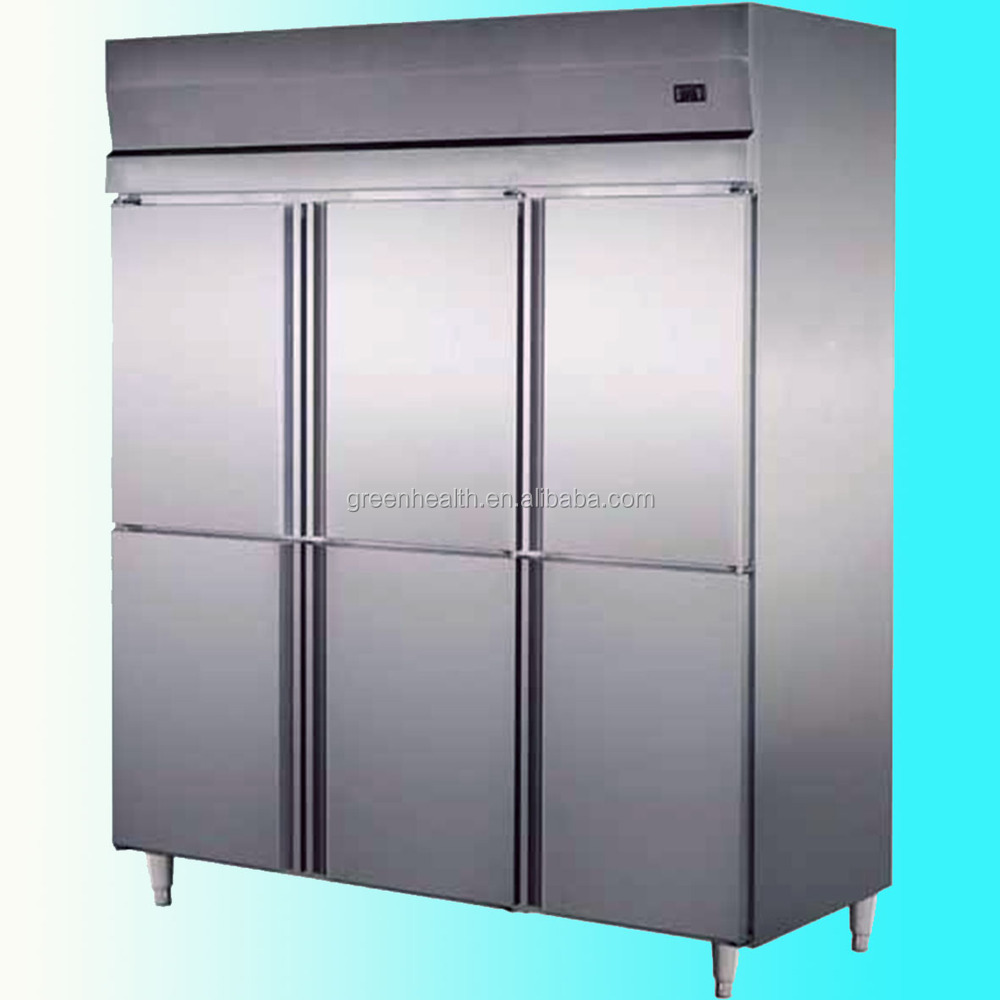 6 doors Stainless Steel upright Commercial Refrigerator