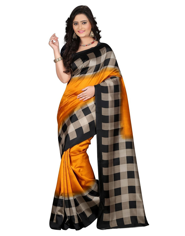 f00db3ee6406e0 Get Quotations · Jaanvi fashion Women s Art Silk Printed Saree