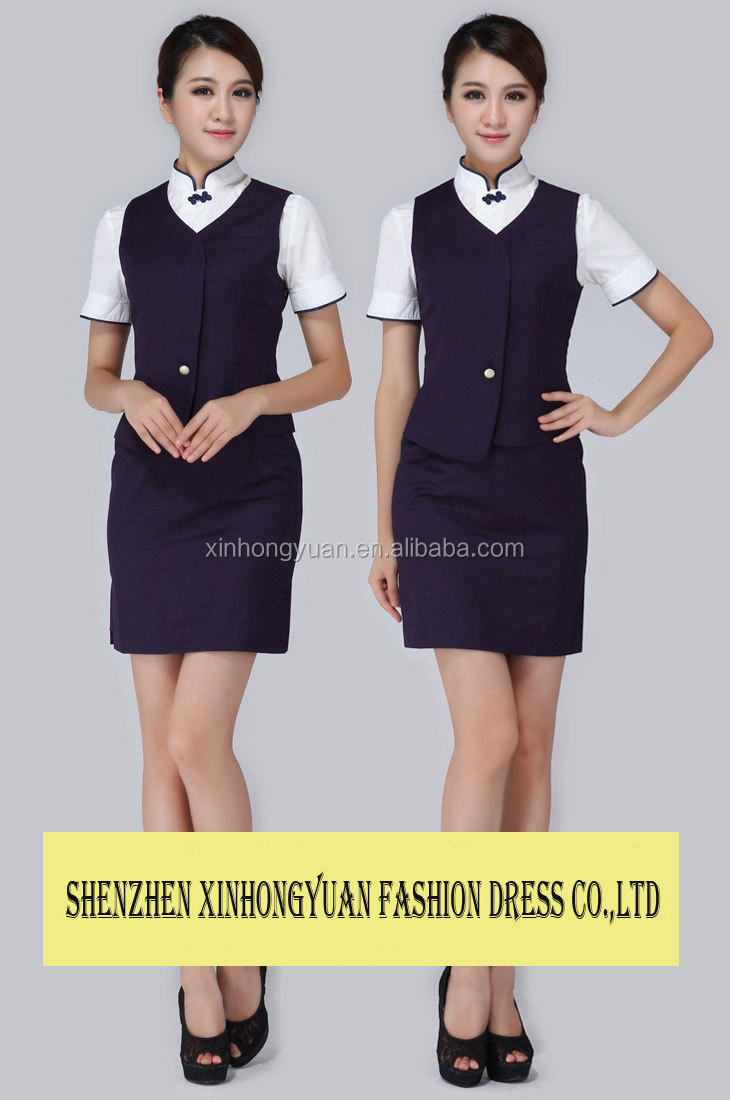 short sleeve dress receptionist hotel uniform for front desk staff short sleeve dress receptionist hotel uniform for front desk staff