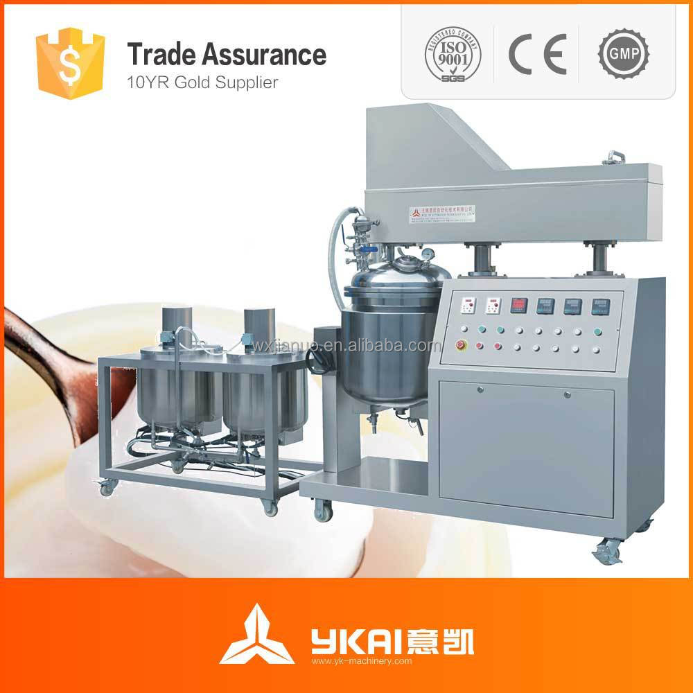 wuxi Detergent manufacturing machine,wuxi PLC vacuum cream making machine,wuxiNew Design cosmetic facial cream making mac