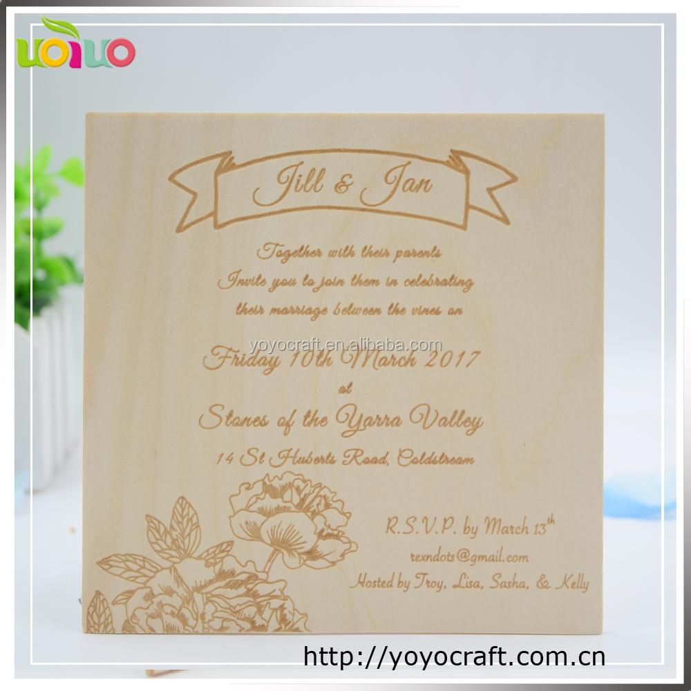 Laser Engraved Wood Invitations, Laser Engraved Wood Invitations ...