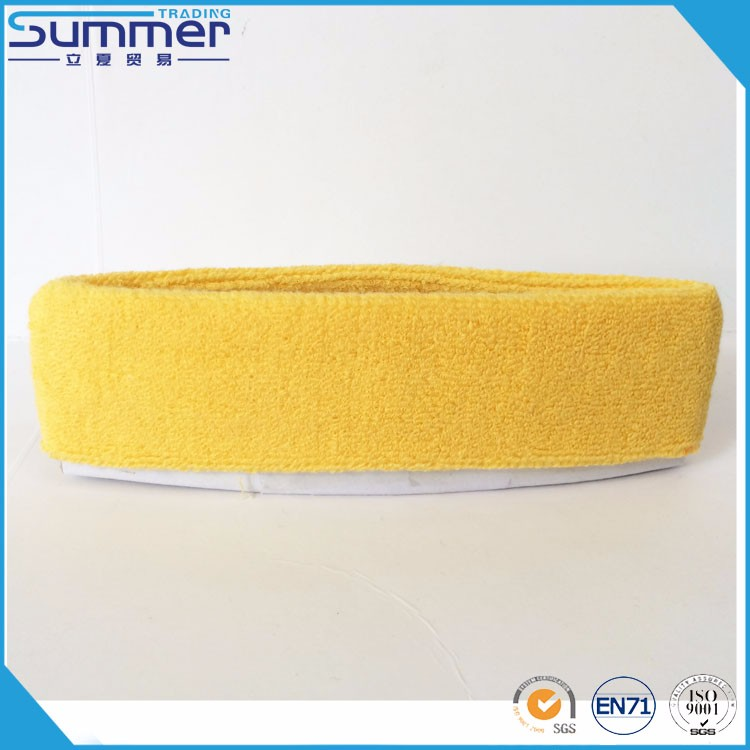 Wholesale Blank Absorb Sweat Cotton Dark Blue Head Sweatband with SGS AZO Free