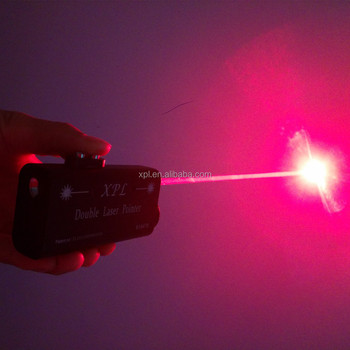 XPL-809H660R200 200mw double laser pointer