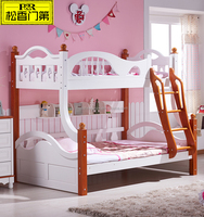 Cheap Solid Wood Pine Kids Bunk Bed