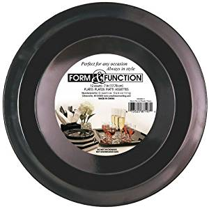 Get Quotations · Form u0026 Function Round Plastic Desert Plates 7-inch Black  sc 1 st  Alibaba & Cheap Black Plastic Plates Bulk find Black Plastic Plates Bulk ...
