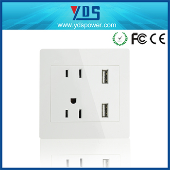 Usb Wall Socket American Us Standard Socket 2 Gang Electrical Outlet ...