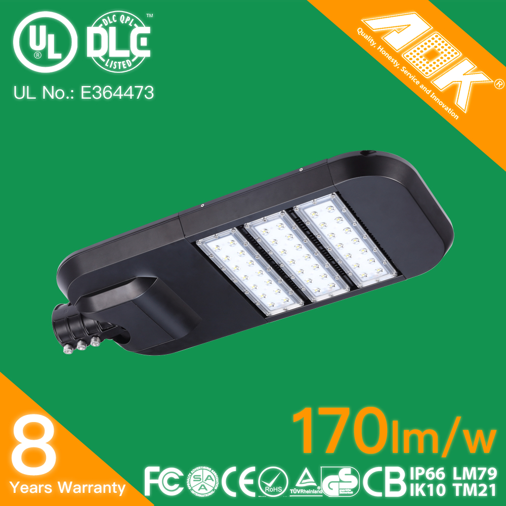 Outdoor 8 Years Warranty 120w LED Car Park Light Dimmable LED Street Lights Retrofit Kits
