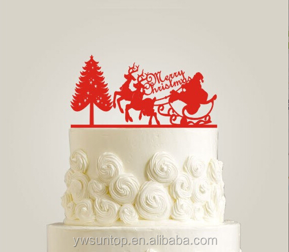 christmas tree wedding cake toppers tree merry cake topper acrylic 12831