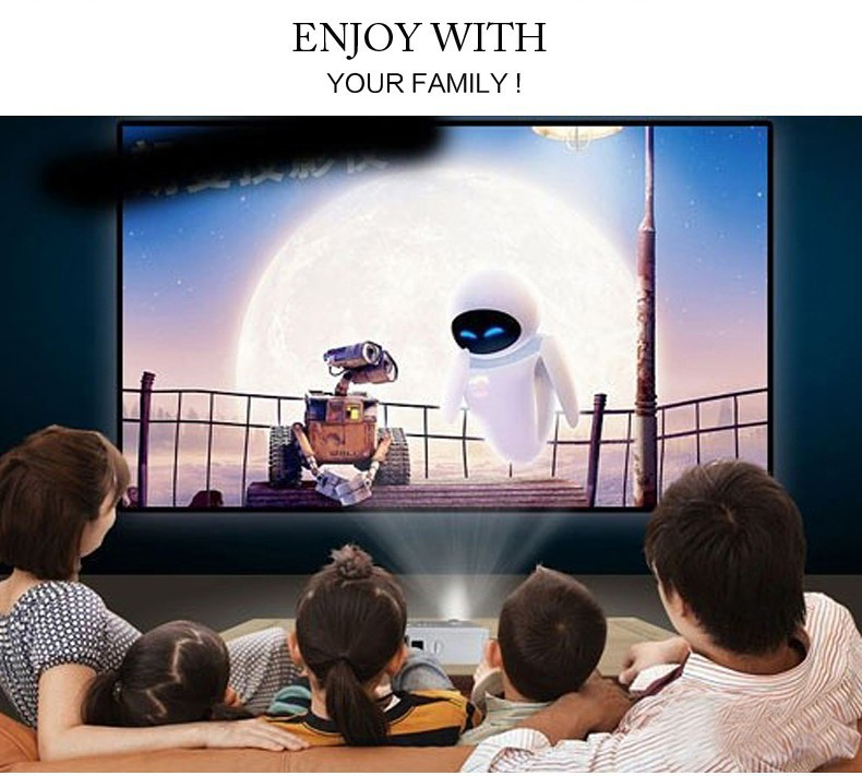 mini portable 1080p hd led 3d projector