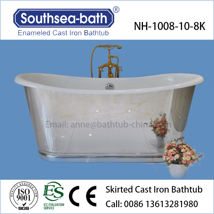 Free Standing Baths With Mirror Finish Skirt French Design Bathtub ...