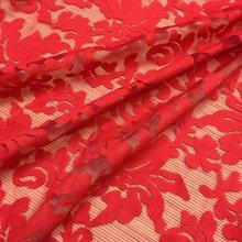 Кружевная ткань с вышитыми кленовыми листьями, французский гипюровый шнур из органзы в африканском стиле для платья белого цвета(Китай)