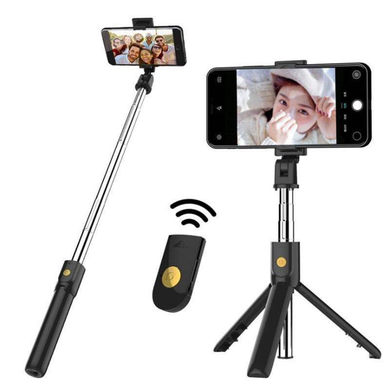 Amazon hot K07 Bluetooth Selfie Stick Remote Tripod Mobile Universal Live Camera Artifact Multifunction phone selfie stick