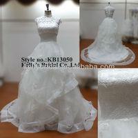 Gorgeous design handmade heavy ruffle informal ball gown dress with jacket hoop