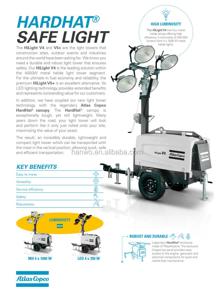Atlas Copco Light Tower Metal Halide Hilight V4 Kubota Diesel Engine Generator Wiring Diagram 3