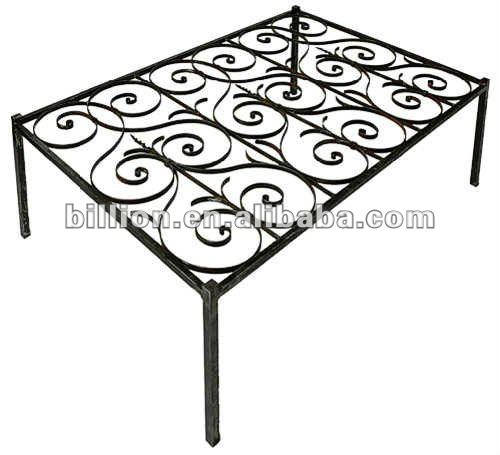 2012 china manufacturer metal table frame wrought iron tables chairs