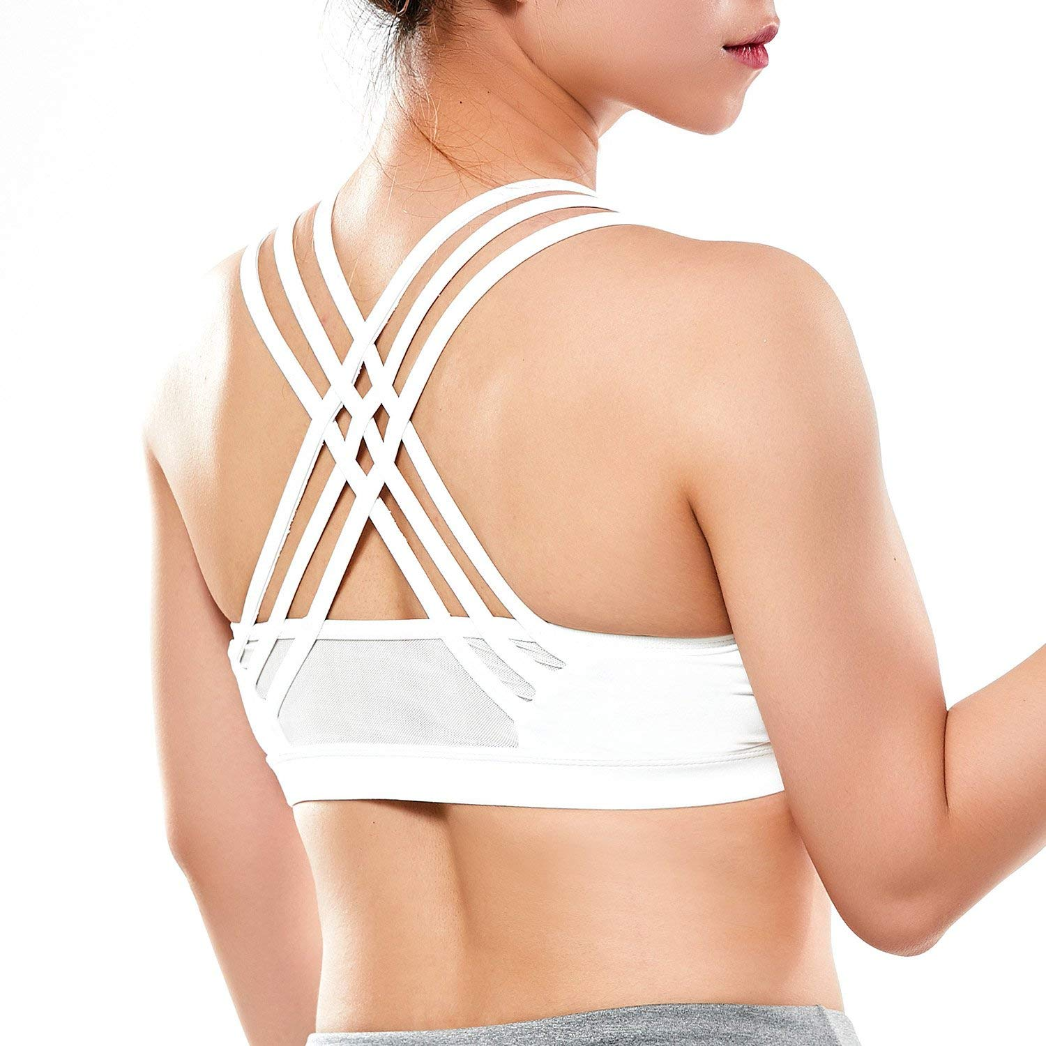 bd73f2e261569 Get Quotations · Vaburs Racerback Sport Bras with High Impact Support