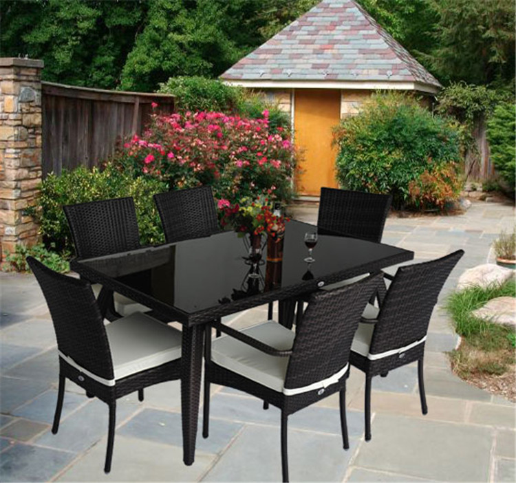 outdoor 6 seater table outdoor 6 seater table suppliers and manufacturers at alibabacom - Rattan Garden Furniture 6 Seater