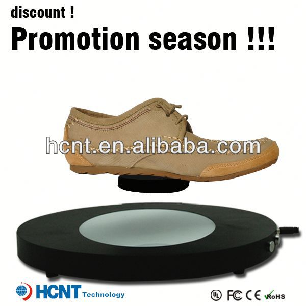 new invention ! magnetic levitating led display stand for shoe woman,aba shoes