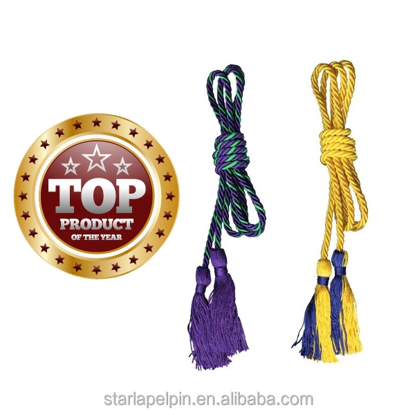 Custom graduation decorative honor braided tassel cord