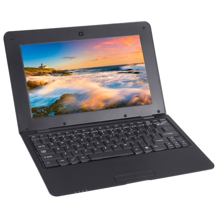 Originele Netbook PC 10.1 inch 1 GB + 8 GB Laptop (Zwart)