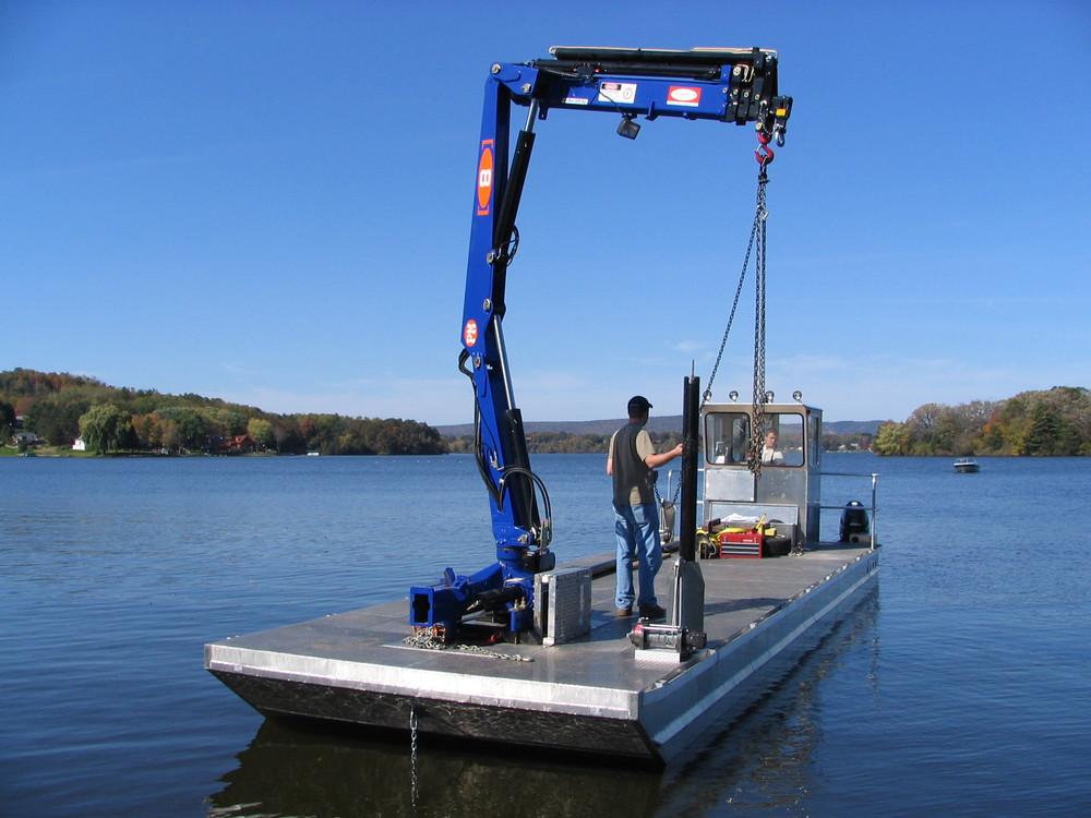 Small Knuckle Boom Crane : Hydraulic knuckle telescopic boom marine cranes buy