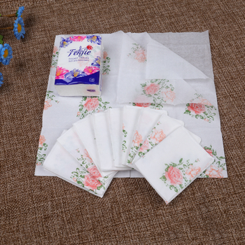 Customized printed pocket facial tissue paper/3ply printing mini pocket tissue/color wallet tissue china manufacturer