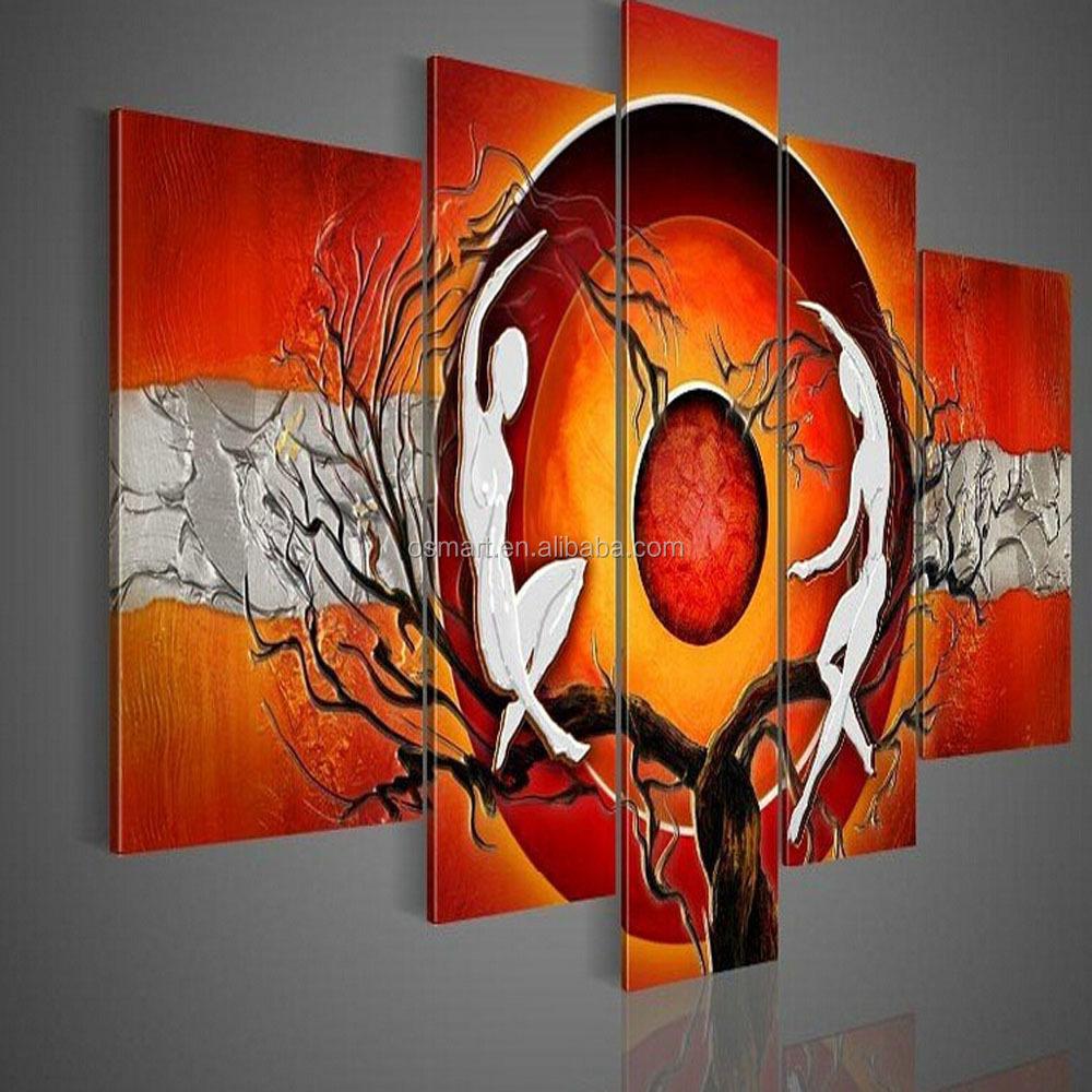 barato pero de alta calidad pareja desnuda abstracta hecha a mano pinturas al leo