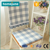 SGS approved shaoxing factory directed blue chequer lace-up chair seat cover