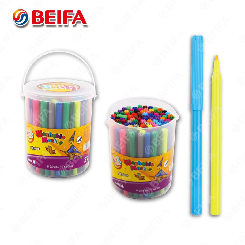 Beifa brand office school supplies washable color art drawing water-based marker pen 12 color water 24 color pen set